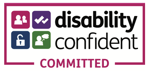 Logo for Disability Confident Committed