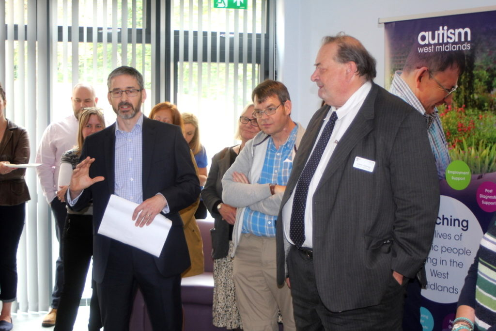 Phil Middlewood CEO talking to a group of guests